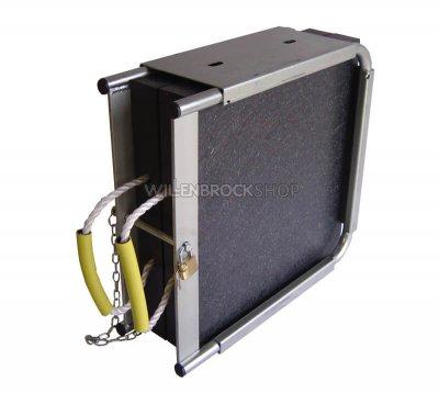 Abstützplatten 400x400 in Doppel-Plattenbox
