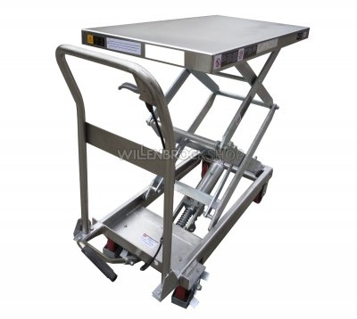 T50012, Edelstahl-Hubtisch 100 kg