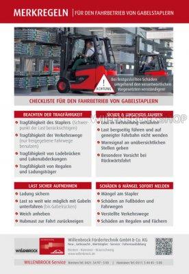 Checkliste für den Stapler-Fahrbetrieb
