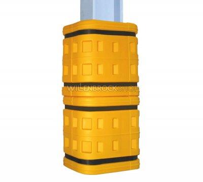 Abb. mit 2 Stück Säulenanfahrschutz