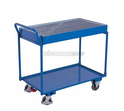 Tischwagen mit Gitterrostwanne