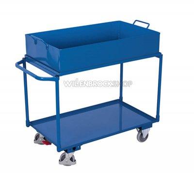 Tischwagen mit Stahlblechwanne