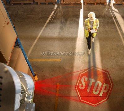 Stationärer LED-Warnprojektor SAF-700