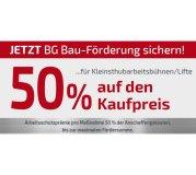 BG Bau-Förderung für Arbeitsbühne Sprint