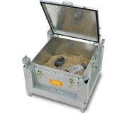 Akku-Stahlsammelbehälter mit Vermiculite (Zubehör)