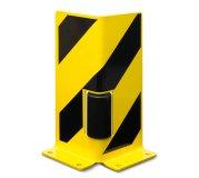 Ecken-Anfahrschutz mit Leitrollen