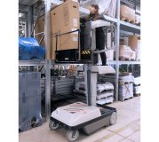 Arbeitsbühne Sprint als Kommissionierer für große Waren