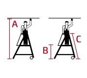 Stabilo® Stufen-Stehleiter