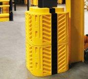 Säulenschutz Montagebeispiel mit Erweiterungspaneel
