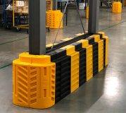 Säulenschutz Montagebeispiel mit Erweiterungspaneele