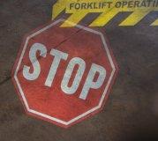 Rotierende Sicherheitszeichen