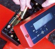 Wiegehubwagen Batteriefach